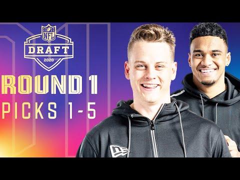 Picks 1-5: Back-to-Back-to-Back Former Teammates, & Multiple QB's | 2020 NFL Draft