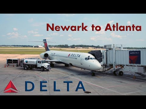 Delta Airlines - Boeing 717 FULL FLIGHT EXPERIENCE/FLIGHT REPORT Newark to Atlanta (720p HD)