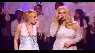"""Ashlee Simpson in Duet with Jessica Simpson """"Happy Christmas"""""""