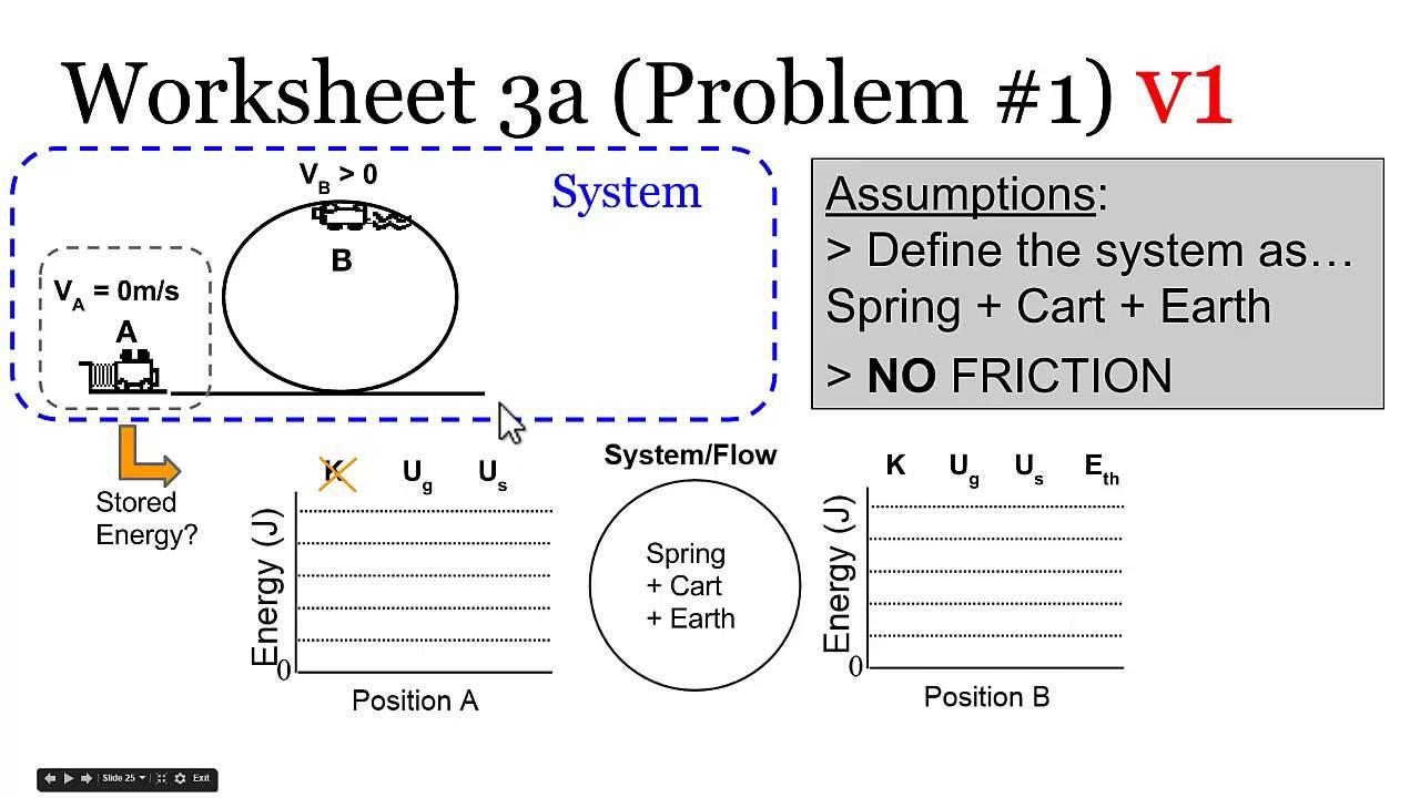 energy bar graphs part 1 energy conservation example problems [ 1280 x 720 Pixel ]