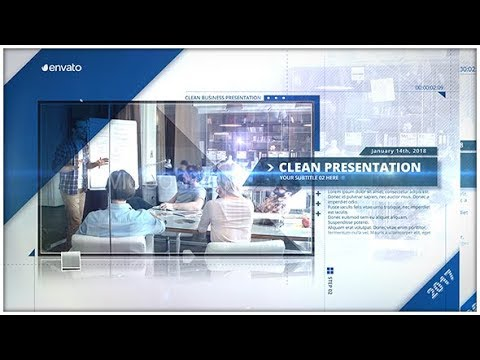 clean presentation - business company ( after effects project, Presentation templates
