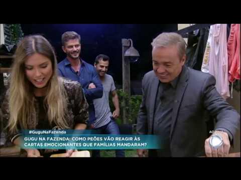 """Ao vivo, Gugu """"invade"""" A Fazenda e surpreende os peões do reality show"""