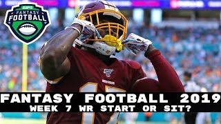 2019 Fantasy Football: Week 7 Wide Receivers - Start or Sit? (Every Match Up)