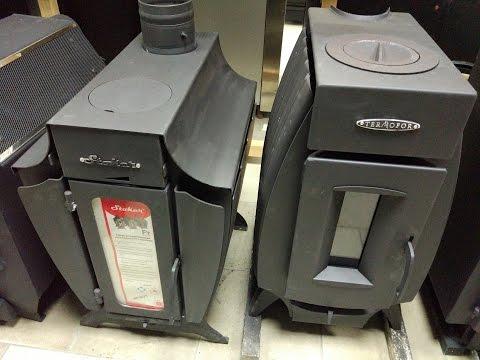 Обзор печи длительного горения Stoker C 100 от  Ермак и сравнение с Огонь-Батареей 5 Термофора