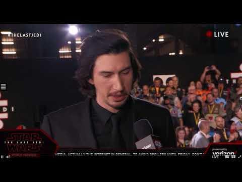Download Youtube: Adam Driver Kylo Ren interview - Star Wars The Last Jedi Red Carpet World Premiere