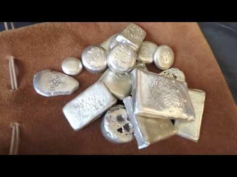 Melting Scrap Silver into bars