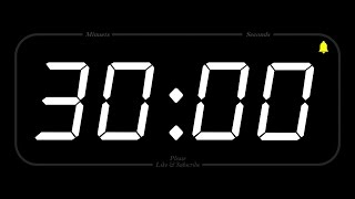 Download 30 MINUTE - TIMER & ALARM - Full HD - COUNTDOWN