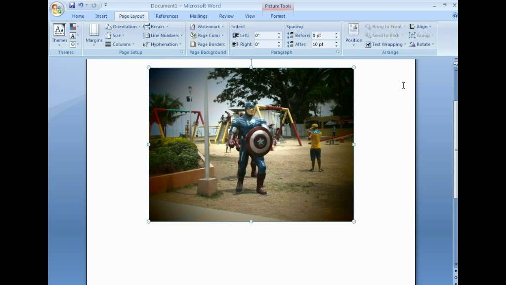 How to rotate image or picture in microsoft word youtube how to rotate image or picture in microsoft word ccuart Choice Image