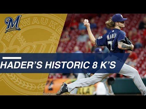 Hader's historic 8-K save