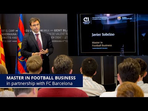 First Edition Master in Football Business in partnership with FC Barcelona