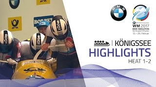 Highlights Heat 1-2 | Lochner leads the battle of the hundredths | BMW IBSF World Championships 2017