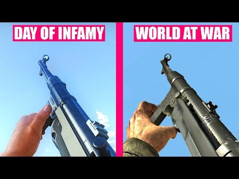 Day of Infamy Gun Sounds vs Call of Duty World At War