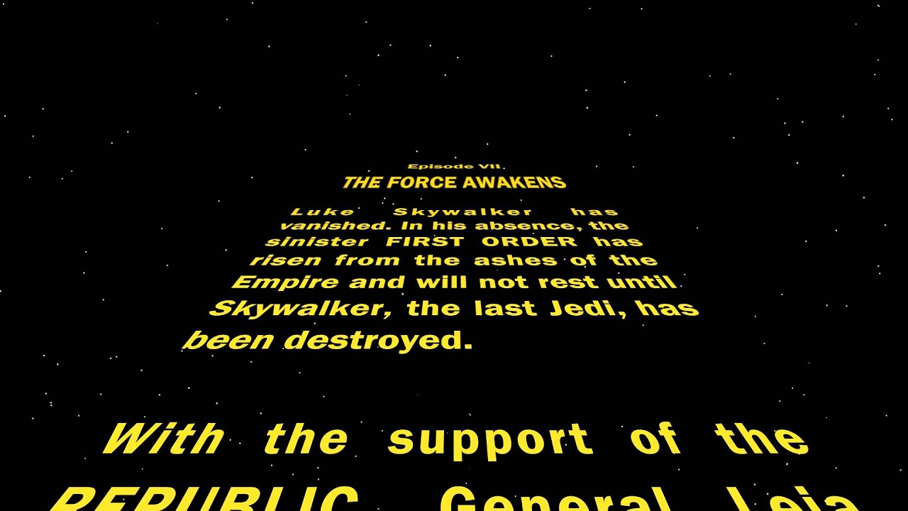 star wars opening crawl - photo #48