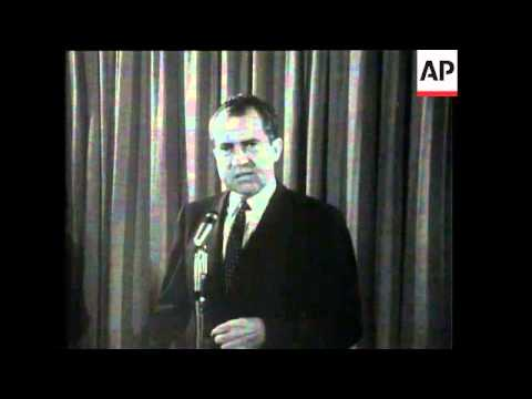 Nixon On His Announced Presidential Bid