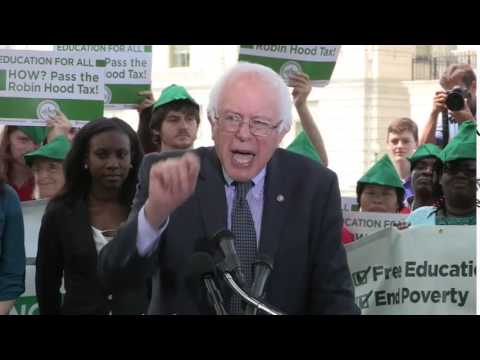Sen. Bernie Sanders Introduces Free College Bill, Powered by Robin Hood Tax