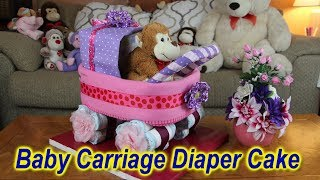 Baby Carriage Diaper Cake