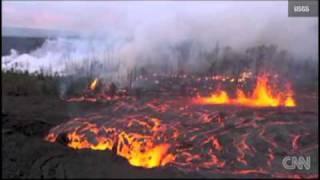 キラウエア火山、溶岩噴出が続く ハワイ島