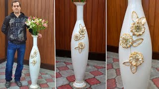 как сделать большую напольную вазу своими руками