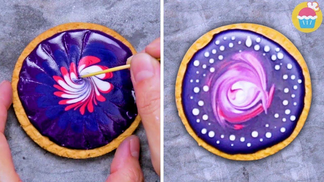 BISCOITOS DE GALÁXIA | Galaxy Cookies | Receitas Demais