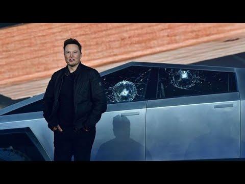 Tesla truck demo goes awry as shatterproof windows break