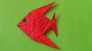 Cara Membuat Origami Ikan Hias | Origami Binatang