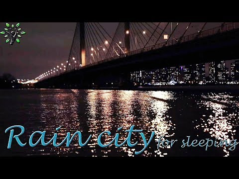 Repeat Rainfall in the city ambience  Relaxing rain sounds