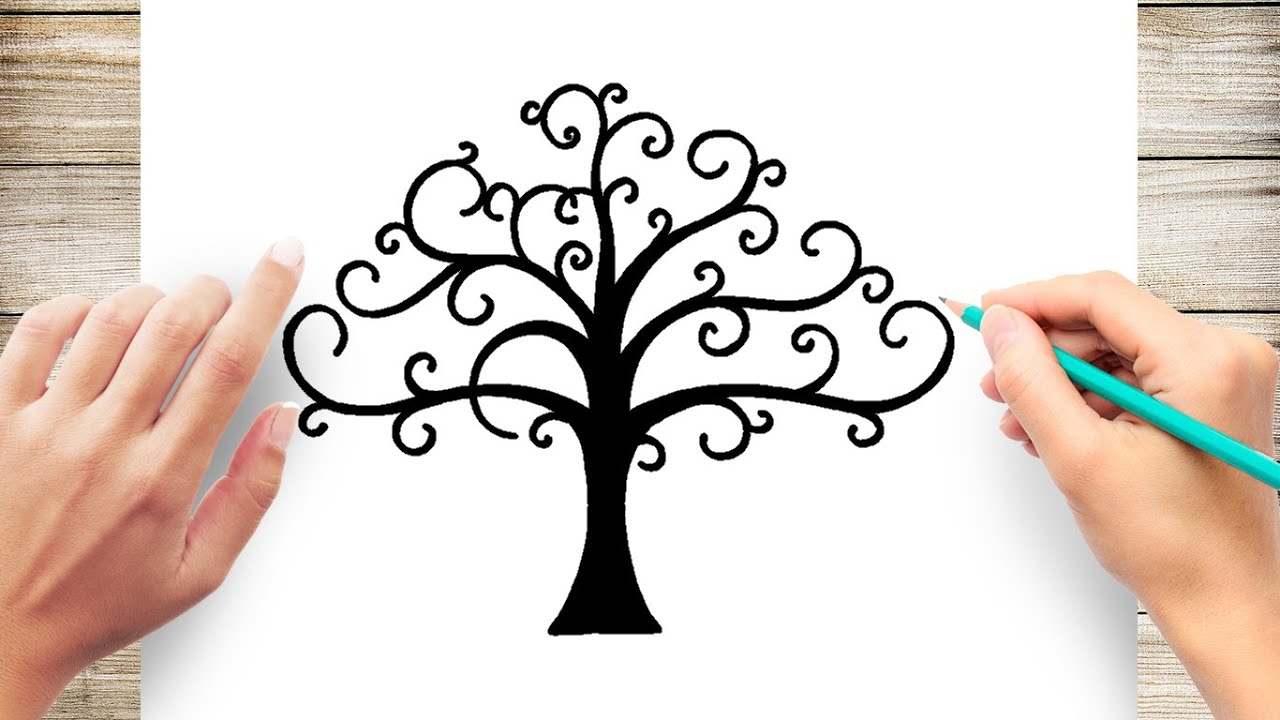 How To Draw Tree Of Life Youtube