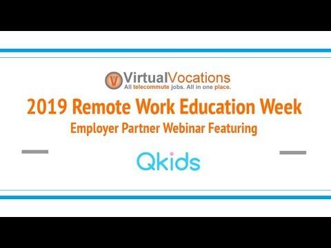 #RemoteWork Webinar With Qkids - Online English Teacher Job Openings | Virtual Vocations