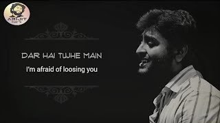 Arijit Singh | Dar Hai Tujhe Main Kho Na Doon | WhatsApp Status | Lyrical | Salamat | Hindi | HD