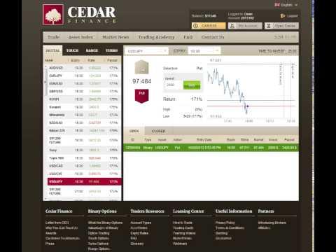 Binary Options Cedar Finance - An innovative tool