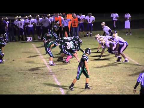 Dylan Hartigan  Green Hope JV Football Highlights  102810