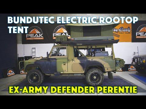 Peak Offroad Equipment - Bundutec Electric Rooftop Tent - Defender Perentie