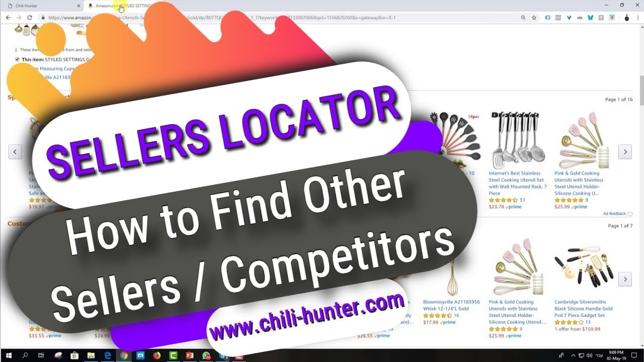 Sellers Locator How To Find Good Sellers Competitors Chili Hunter Ebay Dropshipping Tool Youtube