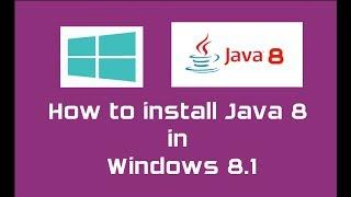Java 8 (Oracle JDK 8) installation in Windows 8.1   Java SE 8 Update 144