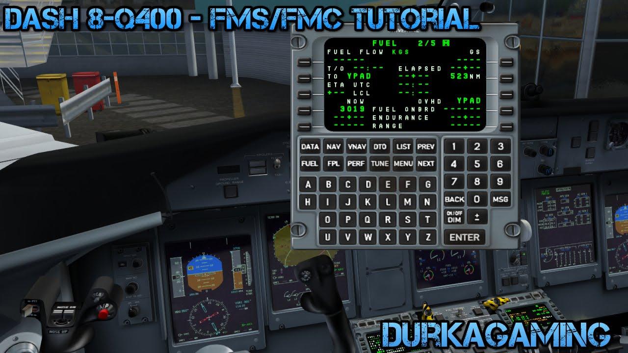 FSX Majestic Q400 - FMS/FMC Basic Setup Tutorial
