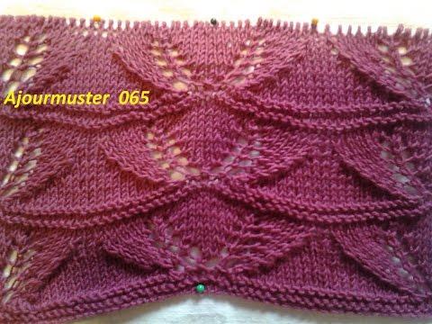 Ajourmuster  065*Stricken lernen* Muster für Pullover Strickjacke Mütze*Tutorial Handarbeit
