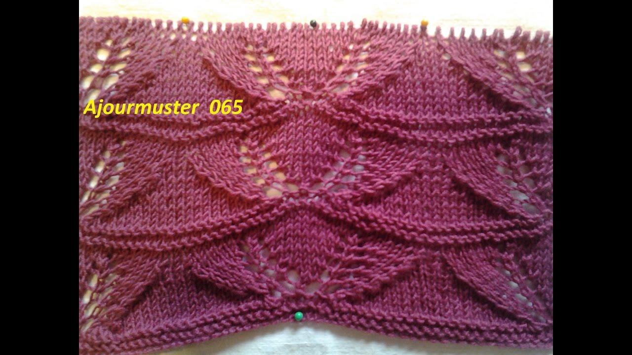 Ajourmuster 065*Stricken lernen* Muster für Pullover Strickjacke ...