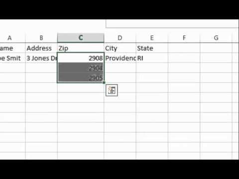 Zip Code Problem In Excel