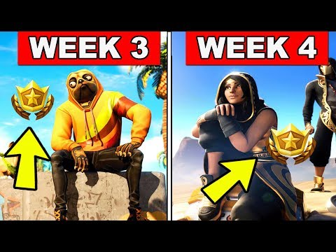 FORTNITE WEEK 3 AND WEEK 4 LOADING SCREEN WITH SECRET BATTLE STAR AND SECRET BANNER LOCATIONS