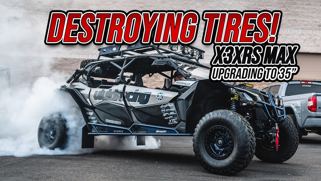 Slaying Tires! Can-Am X3 RS Turbo Max MASSIVE Burnout!