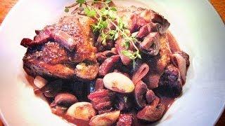 Coq Au Vin - Classic French Chicken In Red Wine Dish / Professional Restaurant Recipe