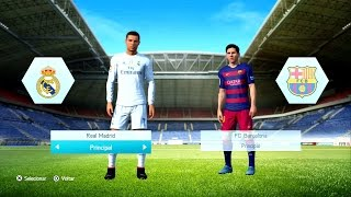 fifa 16 gameplay ps3 x360 real madrid vs barcelona c ronaldo messi e neymar old gen
