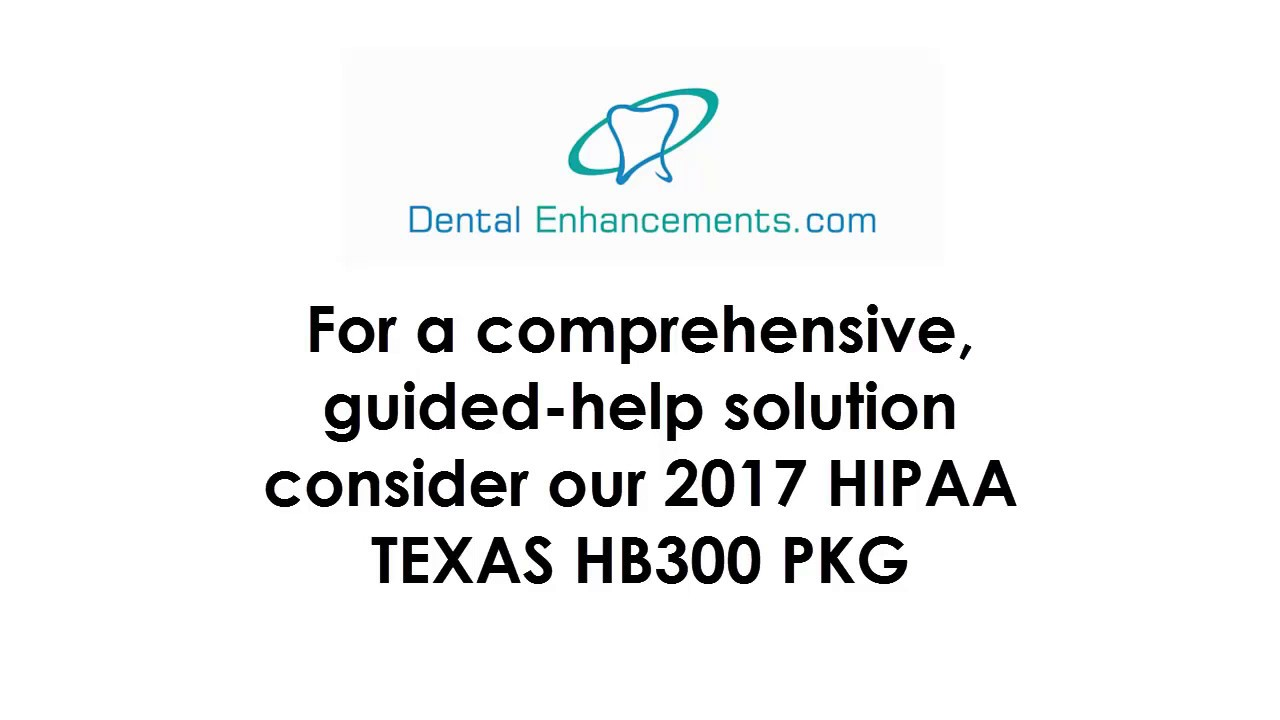 Hipaa texas state hb 300 do it yourself training package by dental hipaa texas state hb 300 do it yourself training package by dental enhancements llc solutioingenieria Image collections