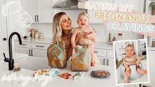 Eating my Pregnancy Cravings with my Baby!! Family Q&A