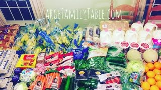 Large Family ALDI Trim Healthy Mama Grocery Haul | Plus, One Week Large Family Meal Plan!