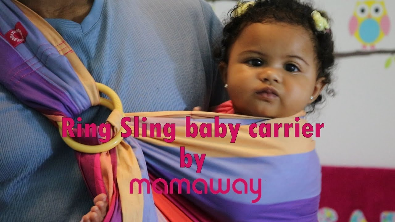 Mamaway Ring Sling Baby Carrier Review Youtube