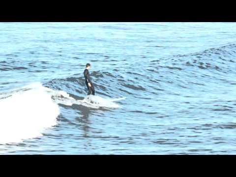 The Longboarder - Surfing at Manhattan Beach, CA (1080p Resolution Version)