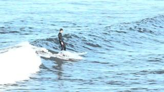 The Longboarder - Surfing at Manhattan Beach, CA (1080p Resolution Version)