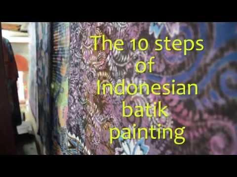 Steps of Batik Painting from Widya Studio in Ubud, Bali