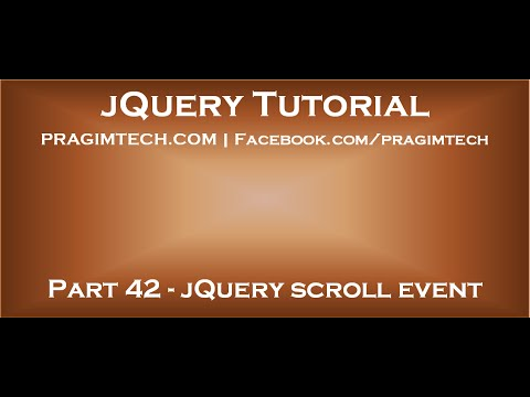 jQuery scroll event - YouTube